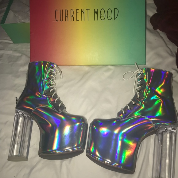 6cd3df17f9 dolls kill Shoes - Iridescent platforms size 8